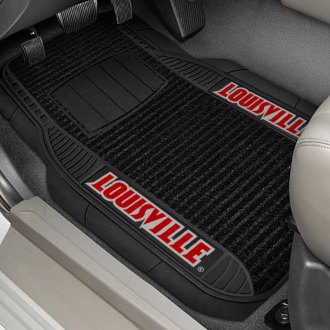 FanMats® - 1st Row Deluxe Vinyl Car Mats with University of Louisville Logo