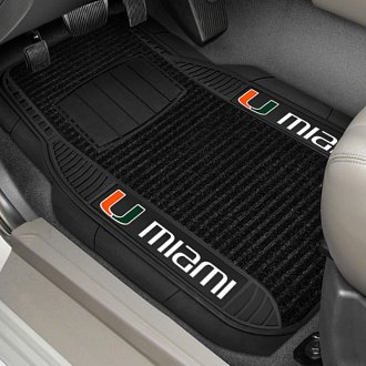 FanMats® - Universal Deluxe Vinyl Car 1st Row Mats (College, Florida, University of Miami)