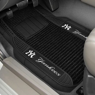 FanMats® - Universal Deluxe Vinyl Car 1st Row Mats (Sports, MLB, New York Yankees)