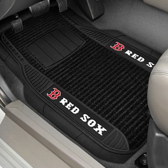 FanMats® - 1st Row Deluxe Vinyl Car Mats with Boston Red Sox Logo