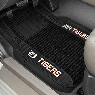 FanMats® - Universal Deluxe Vinyl Car 1st Row Mats (Sports, MLB, Detroit Tigers)