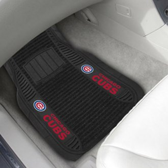 FanMats® - Universal Deluxe Vinyl Car 1st Row Mats (Sports, MLB, Chicago Cubs)