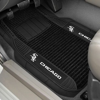 FanMats® - Universal Deluxe Vinyl Car 1st Row Mats (Sports, MLB, Chicago White Sox)