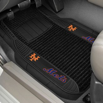 FanMats® - Universal Deluxe Vinyl Car 1st Row Mats (Sports, MLB, New York Mets)