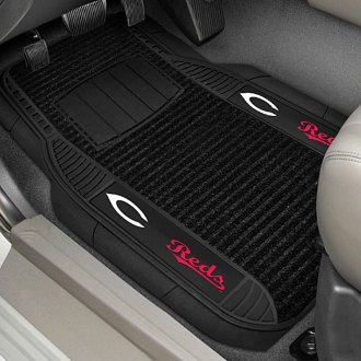 FanMats® - 1st Row Deluxe Vinyl Car Mats with Cincinnati Reds Logo
