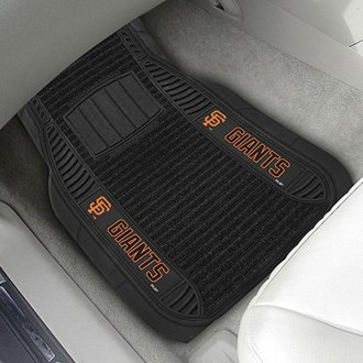 FanMats® - 1st Row Deluxe Vinyl Car Mats with San Francisco Giants Logo