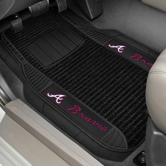 FanMats® - 1st Row Deluxe Vinyl Car Mats with Atlanta Braves Logo