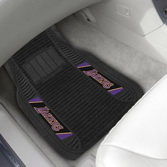FanMats® - Universal Deluxe Vinyl Car 1st Row Mats (Sports, NBA, Los Angeles Lakers)