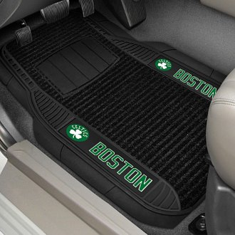 FanMats® - 1st Row Deluxe Vinyl Car Mats with Boston Celtics Logo