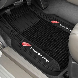 FanMats® - Universal Deluxe Vinyl Car 1st Row Mats (Sports, NHL, Detroit Red Wings)