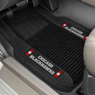 FanMats® - Universal Deluxe Vinyl Car 1st Row Mats (Sports, NHL, Chicago Blackhawks)