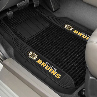 FanMats® - Universal Deluxe Vinyl Car 1st Row Mats (Sports, NHL, Boston Bruins)