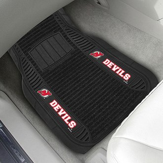 FanMats® - Universal Deluxe Vinyl Car 1st Row Mats (Sports, NHL, New Jersey Devils)