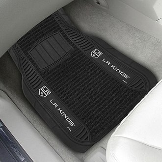 FanMats® - Universal Deluxe Vinyl Car 1st Row Mats (Sports, NHL, Los Angeles Kings)