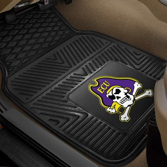 FanMats® - 1st Row Collegiate Heavy Duty Vinyl Car Mats with East Carolina University Logo