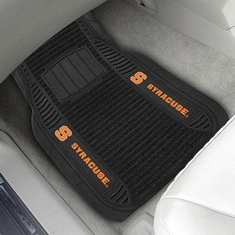 FanMats® - 1st Row Deluxe Vinyl Car Mats with Syracuse University Logo