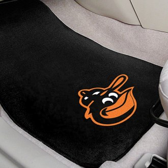 FanMats® - Black Carpet Mats with Baltimore Orioles ''Cartoon Bird'' Logo