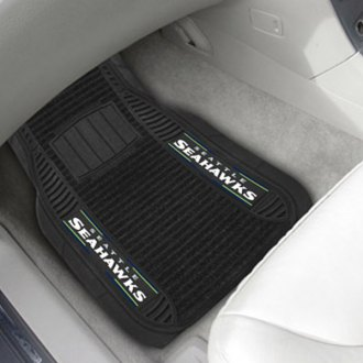 FanMats® - 1st Row Deluxe Vinyl Car Mats with Seattle Seahawks Logo