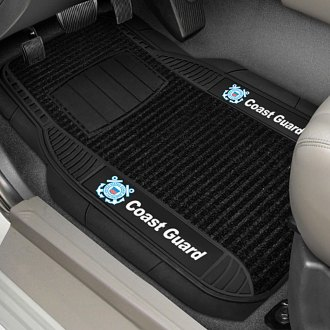 FanMats® - 1st Row Deluxe Vinyl Car Mats with Coast Guard Logo