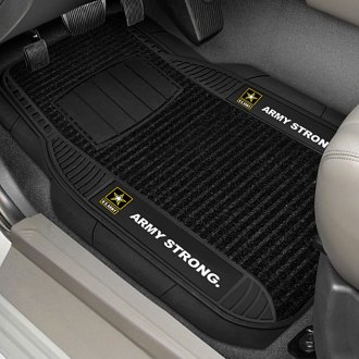 FanMats® - Universal Deluxe Vinyl Car 1st Row Mats (Military, Army)