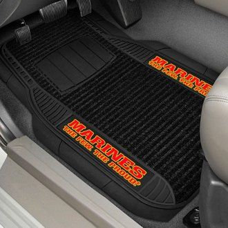 FanMats® - Universal Deluxe Vinyl Car 1st Row Mats (Military, Marines)