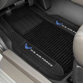 FanMats® - Universal Deluxe Vinyl Car 1st Row Mats (Military, Air Force)