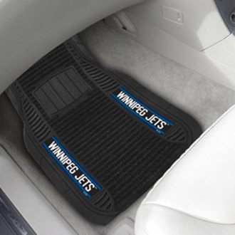 FanMats® - 1st Row Deluxe Vinyl Car Mats with Winnipeg Jets Logo