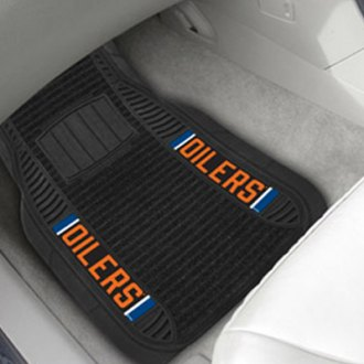 FanMats® - 1st Row Deluxe Vinyl Car Mats with Edmonton Oilers Logo