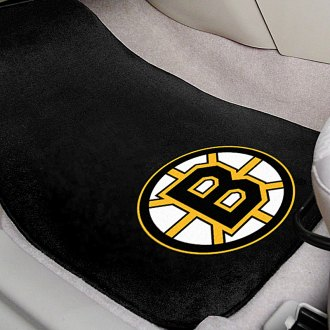 FanMats® - Boston Bruins Logo on Embroidered Floor Mats
