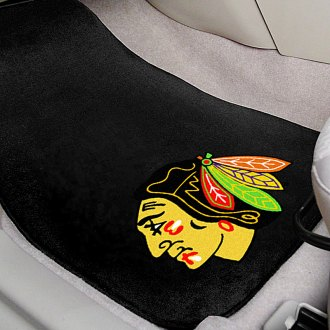 FanMats® - Chicago Blackhawks Logo on Embroidered Floor Mats