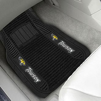 FanMats® - 1st Row Deluxe Vinyl Car Mats with Towson University Logo