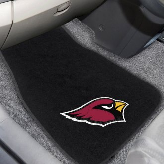 FanMats® - Arizona Cardinals Logo on Embroidered Floor Mats