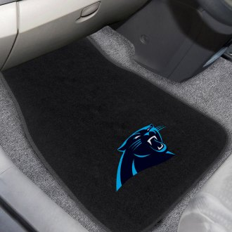 FanMats® - Carolina Panthers Logo on Embroidered Floor Mats