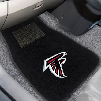 FanMats® - Atlanta Falcons Logo on Embroidered Floor Mats