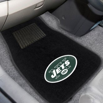 FanMats® - New York Jets Logo on Embroidered Floor Mats