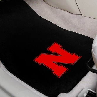FanMats® - University of Nebraska Logo on Embroidered Floor Mats