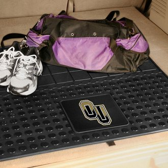 FanMats® - Oakland University Logo on Heavy Duty Vinyl Cargo Mat