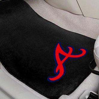 FanMats® - Atlanta Braves Logo on Embroidered Floor Mats