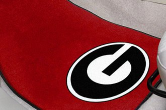 FanMats® 5075 - University of Georgia on Red Logo on Carpet Car Mats