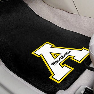 FanMats® - Black Carpet Mats with Appalachian State Logo