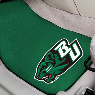 FanMats® - Green Carpet Mats with Binghamton University Logo