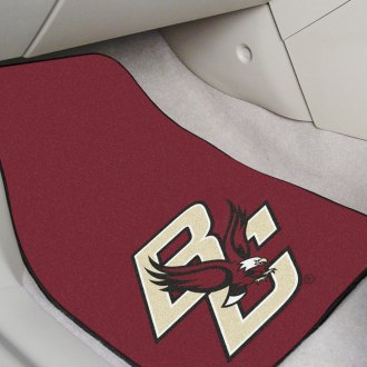 FanMats® - Black Carpet Mats with Boston College Logo