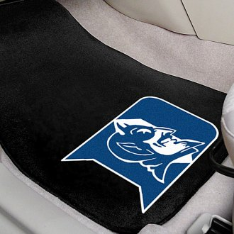 FanMats® - Black Carpet Mats with Duke University Logo