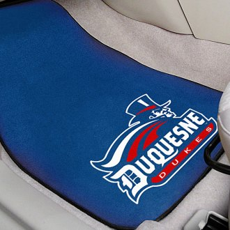 FanMats® - Blue Carpet Mats with Duquesne University Logo