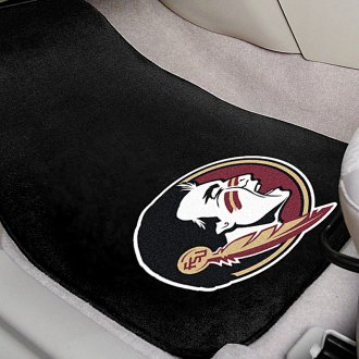 FanMats® - Black Carpet Mats with Florida State University Seminole Logo