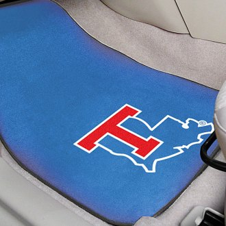 FanMats® - Blue Carpet Mats with Louisiana Tech University Logo