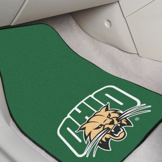 FanMats® - Black Carpet Mats with Ohio University Logo