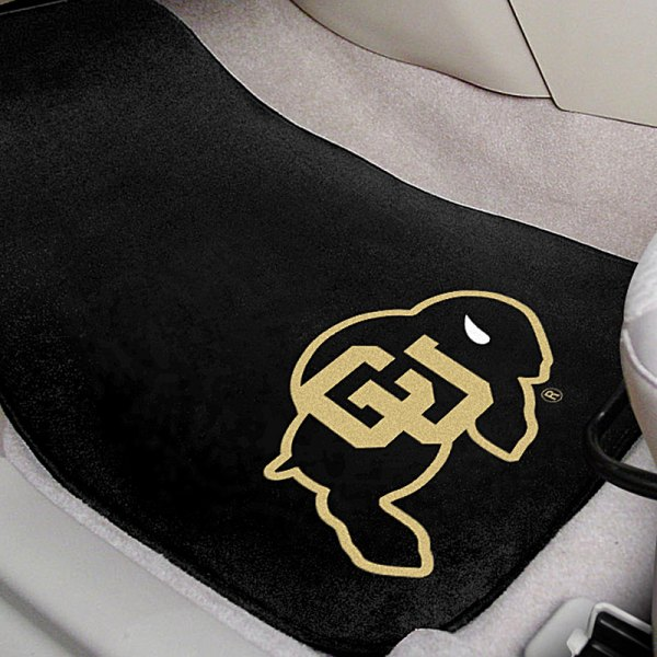 FanMats® Black Carpet Mats with University of Colorado Logo
