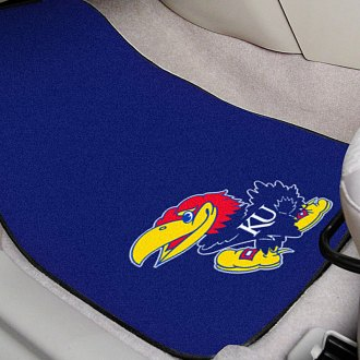 FanMats® - Blue Carpet Mats with University of Kansas Logo