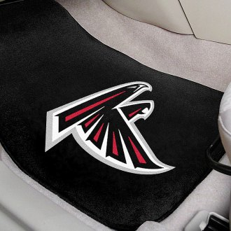 FanMats® - Black Carpet Mats with Atlanta Falcons Logo